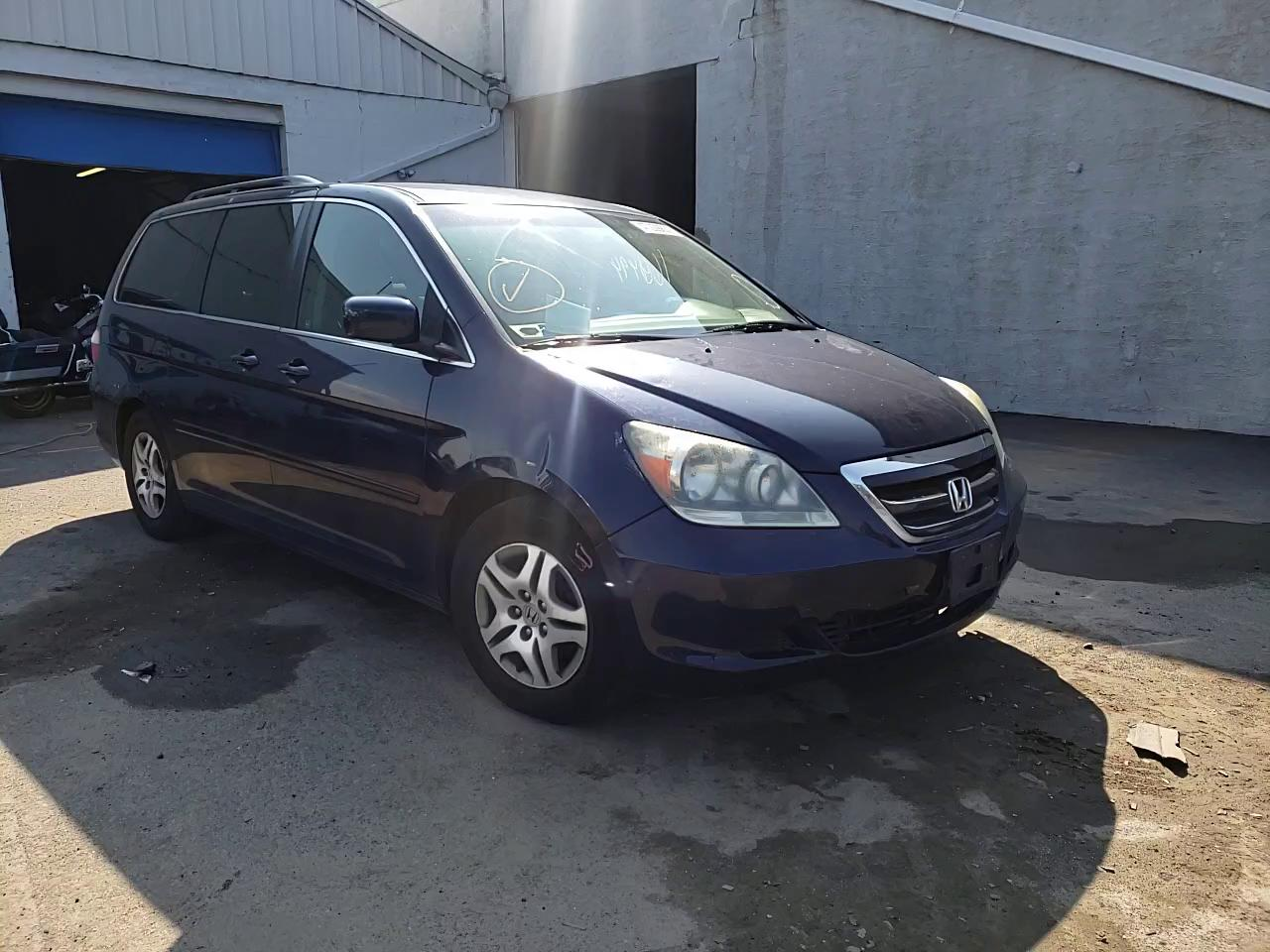 Salvage cars for sale from Copart Hillsborough, NJ: 2006 Honda Odyssey EX