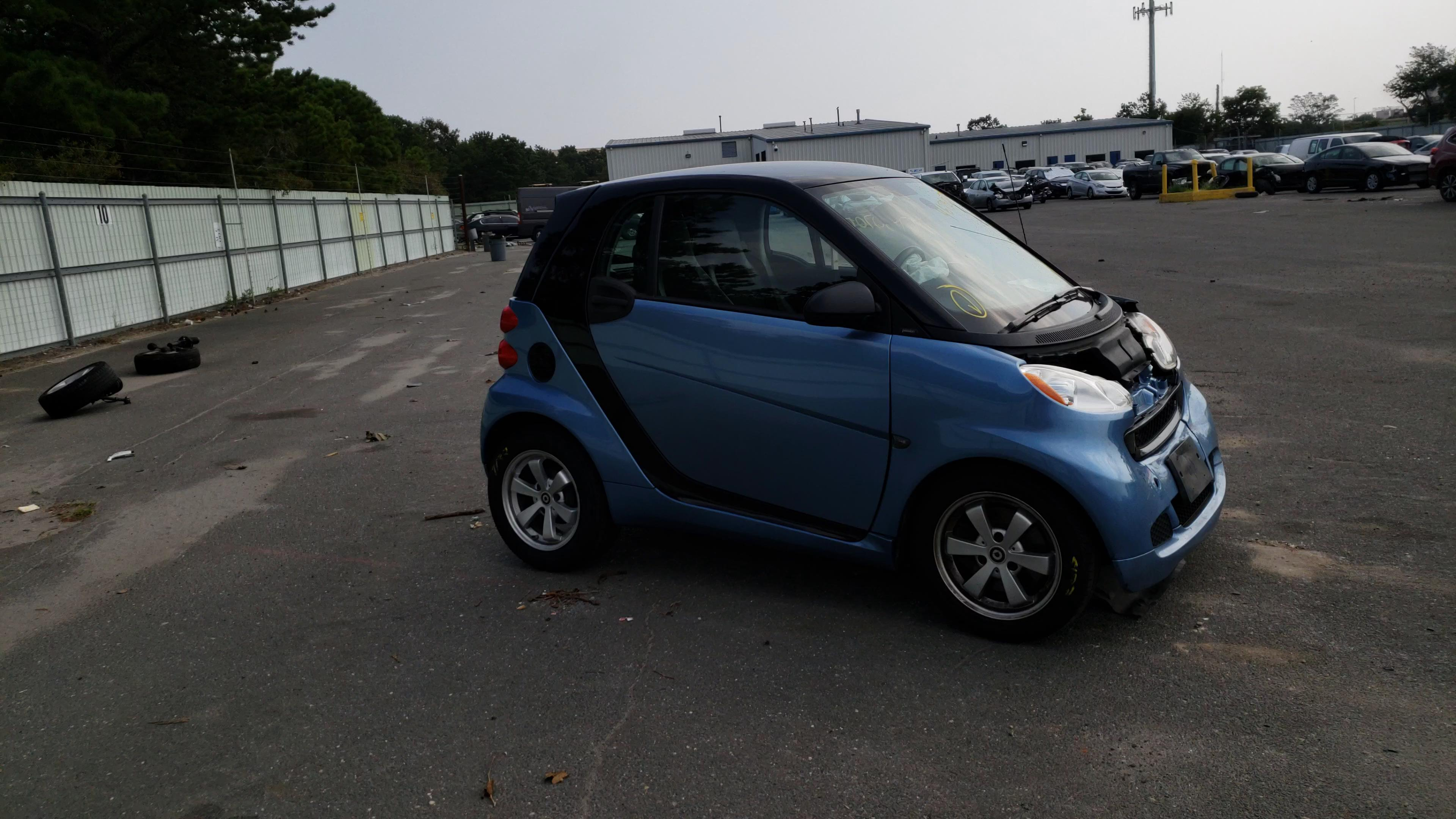 Smart salvage cars for sale: 2012 Smart Fortwo PUR