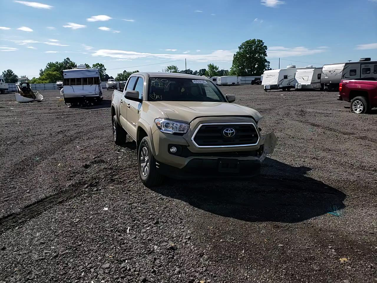 Salvage cars for sale from Copart Columbia Station, OH: 2019 Toyota Tacoma DOU