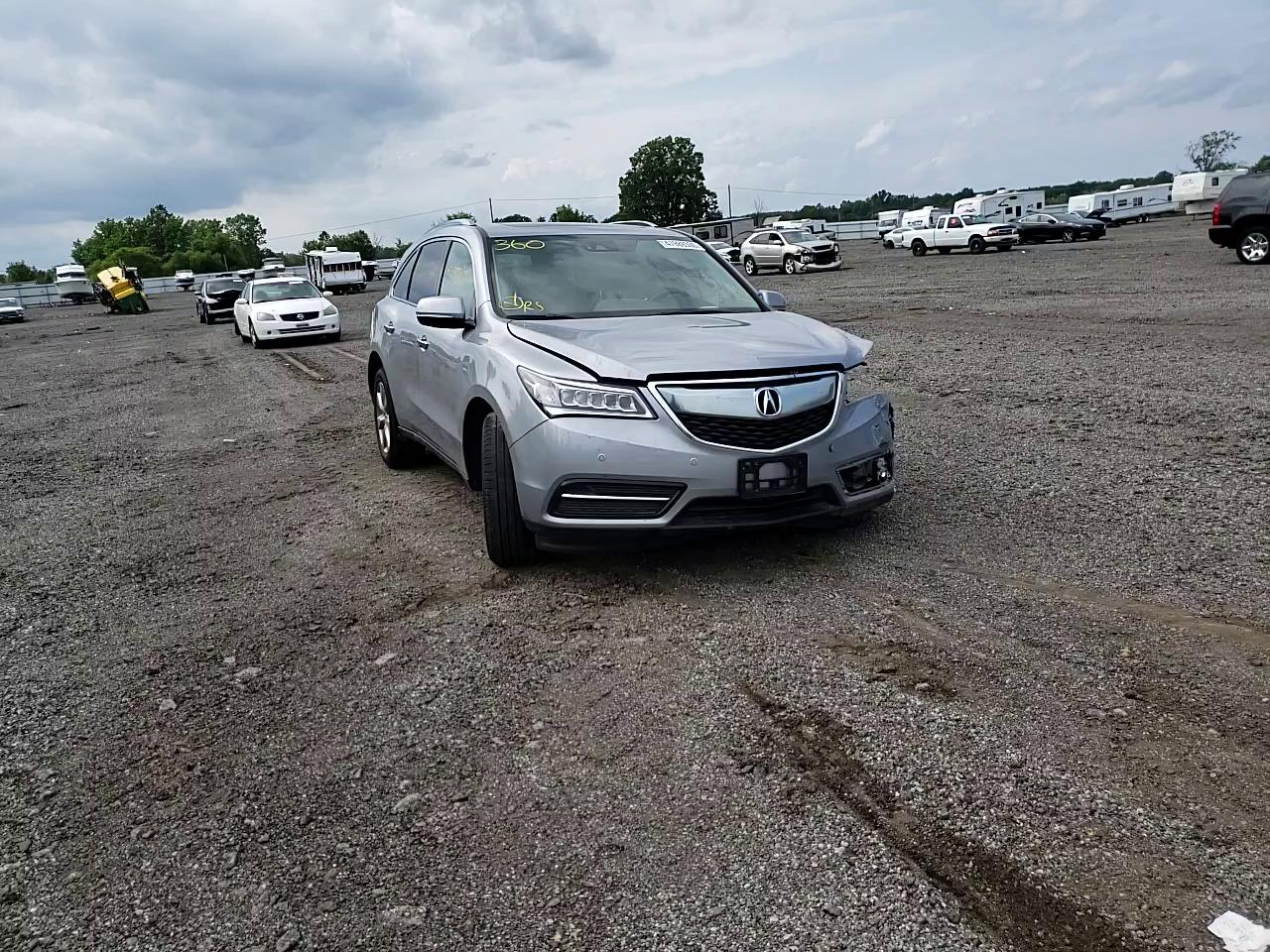 Salvage cars for sale from Copart Columbia Station, OH: 2016 Acura MDX Advance