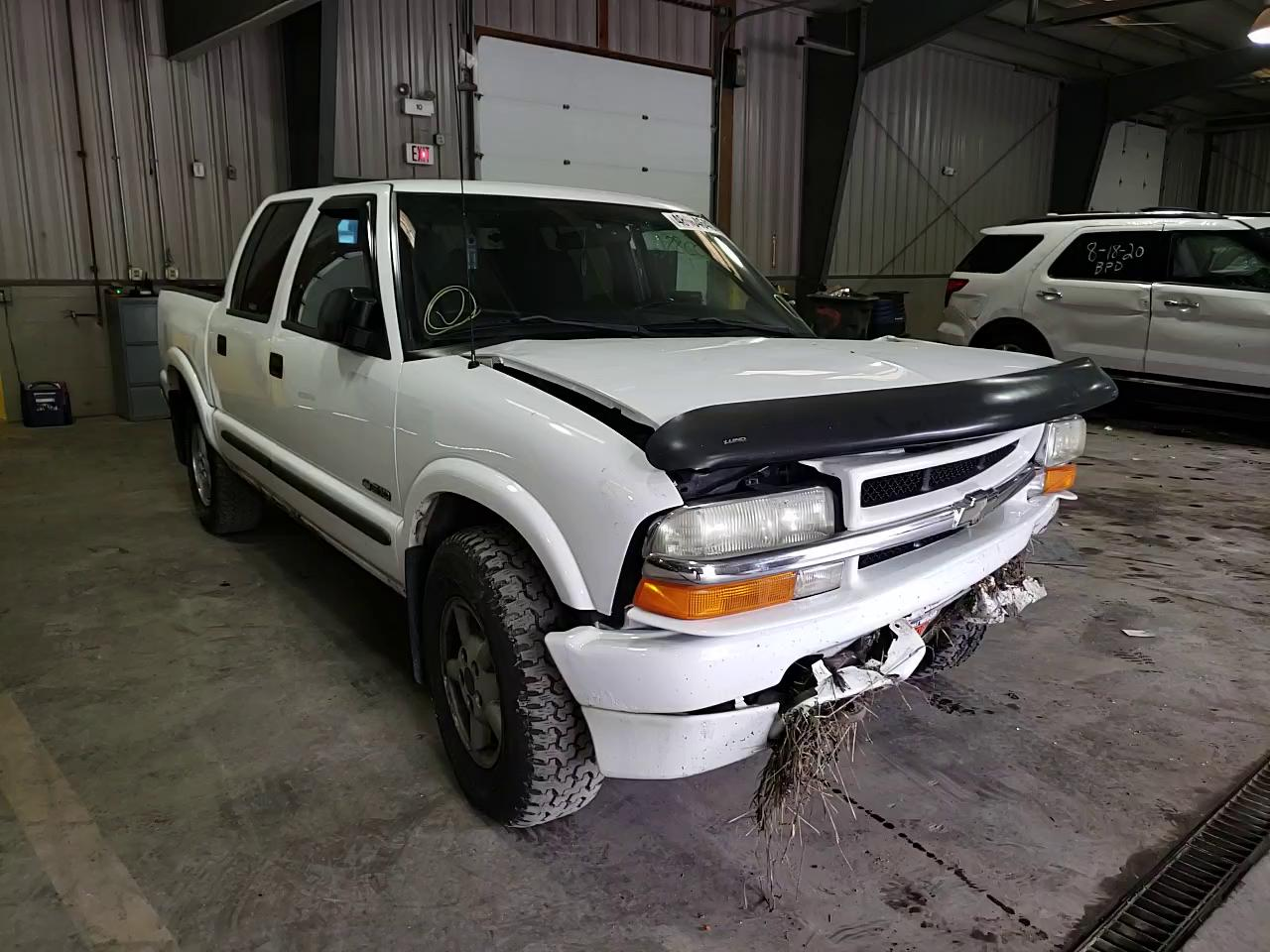 Salvage cars for sale from Copart West Mifflin, PA: 2004 Chevrolet S Truck S1